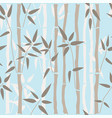bamboo seamless pattern on blue background vector image