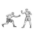 boxers are training sport strong men fight vector image