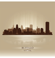 Buffalo new york skyline city silhouette vector | Price: 1 Credit (USD $1)
