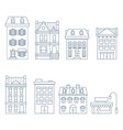 buildings and houses in european style vector image
