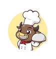 bull steak chef vector image vector image