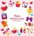 Celebration Card for Valentines Day vector image vector image