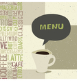 coffeehouse menu template vector image vector image