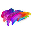 colorful abstract brush strokes on white vector image vector image