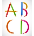 Colorful alphabet of pencils A B C D vector image vector image