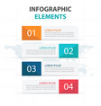 colorful banner business infographics elements vector image vector image