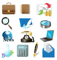 computer and office icons vector image vector image