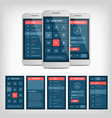 conception mobile user interface vector image vector image
