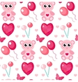 Cute seamless pattern Valentines day with teddy vector image