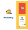 database briefcase creative logo and business vector image vector image