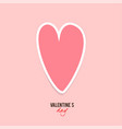 elegant background with pink paper heart vector image