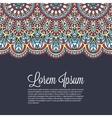 Elegant Indian ornamentation on a dark background vector image vector image