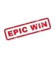 Epic Win Text Rubber Stamp