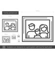 family portrait line icon vector image vector image