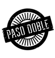Famous dance style Paso Doble stamp vector image vector image