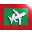 flag with airplane Travel background Eps 10 vector image