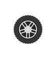 flat car wheel icon - car service sign vector image