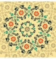 Floral round ornament vector image