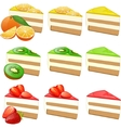 Fruit cakes set vector image
