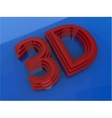 Glossy colored 3D logo isolated on blue background vector image