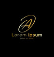 gold color simple initial luxury font type logo vector image vector image