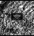 grunge black chalk texture on white background vector image