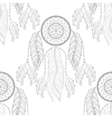 Hand drawn zentangle Dream catcher seamless vector image