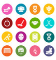 hockey icons set colorful circles vector image vector image