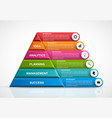 infographic template with pyramid for vector image