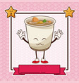 Kawaii ramen soup chinese food card banner
