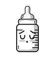 line kawaii cute tender feeding bottle vector image vector image