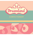 logo and design elements for the confectionery vector image vector image