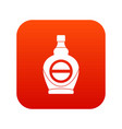 maple syrup in glass bottle icon digital red vector image vector image