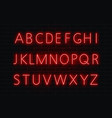neon font light alphabet text sign set gl vector image