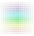 pie chart icon halftone spectral grid vector image vector image