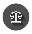 scale comparison icon in flat style balance vector image