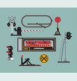 scale model railway hobitems in flat style vector image