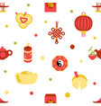 seamless chinese new year celebration party vector image vector image