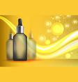 serum essence golden with dropper in bottle skin vector image