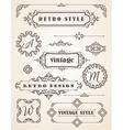 set retro vintage badges frames labels and vector image