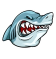 Shark mascot team label design vector image vector image