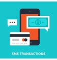sms transactions vector image vector image