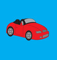 sport race car red vector image vector image