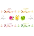 Summer bunners with text swirls and colorful vector image vector image