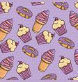 sweet stickers pop art vector image vector image