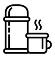 thermos bottle icon outline style vector image vector image