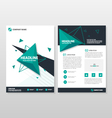 Triangle annual report Leaflet Brochure templates vector image vector image