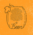 Vintage beer background vector image