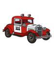 Vintage fire patrol car vector image vector image