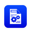 web setting icon digital blue vector image vector image